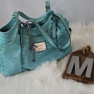 Nicole by Nicole Miller light turquoise purse